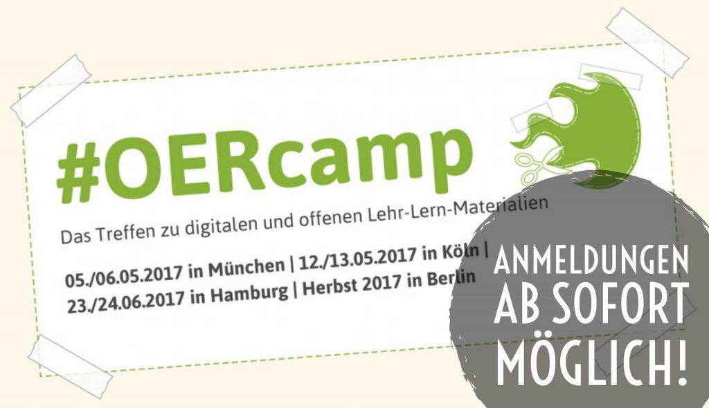 Anmeldung zum OERcamp ab sofort möglich