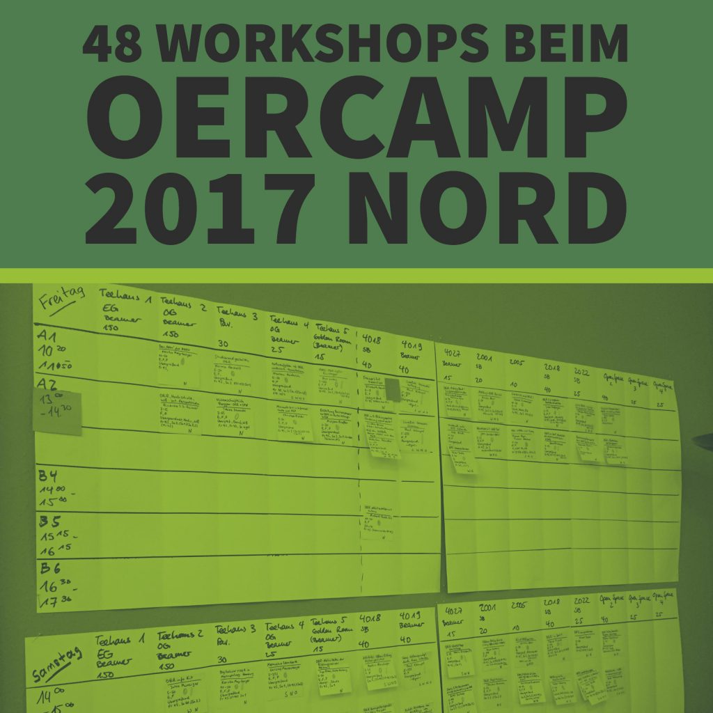 48 Workshops beim OERcamp 2017 Nord
