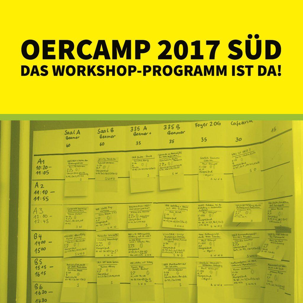 Das OERcamp 2017 Süd Workshop Programm ist da!