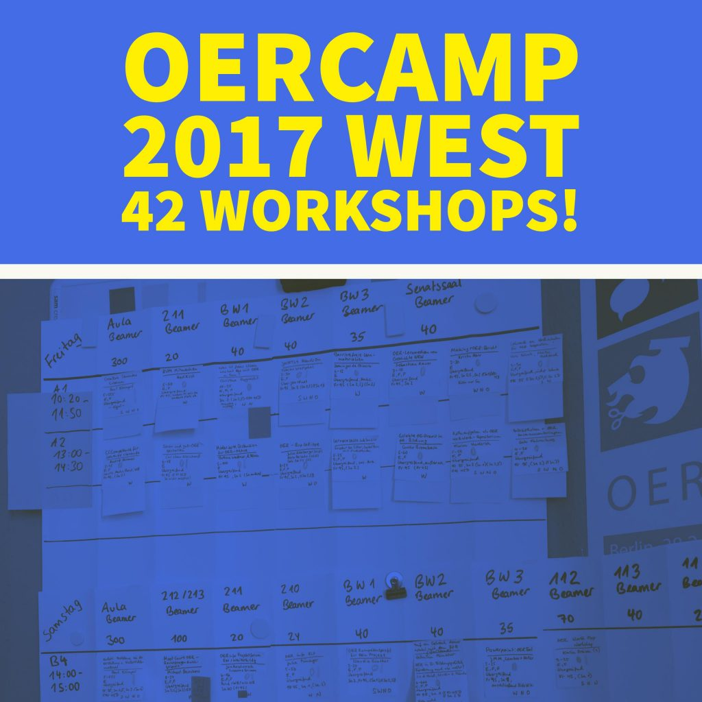 OERcamp 2017 West – 42 Workshops