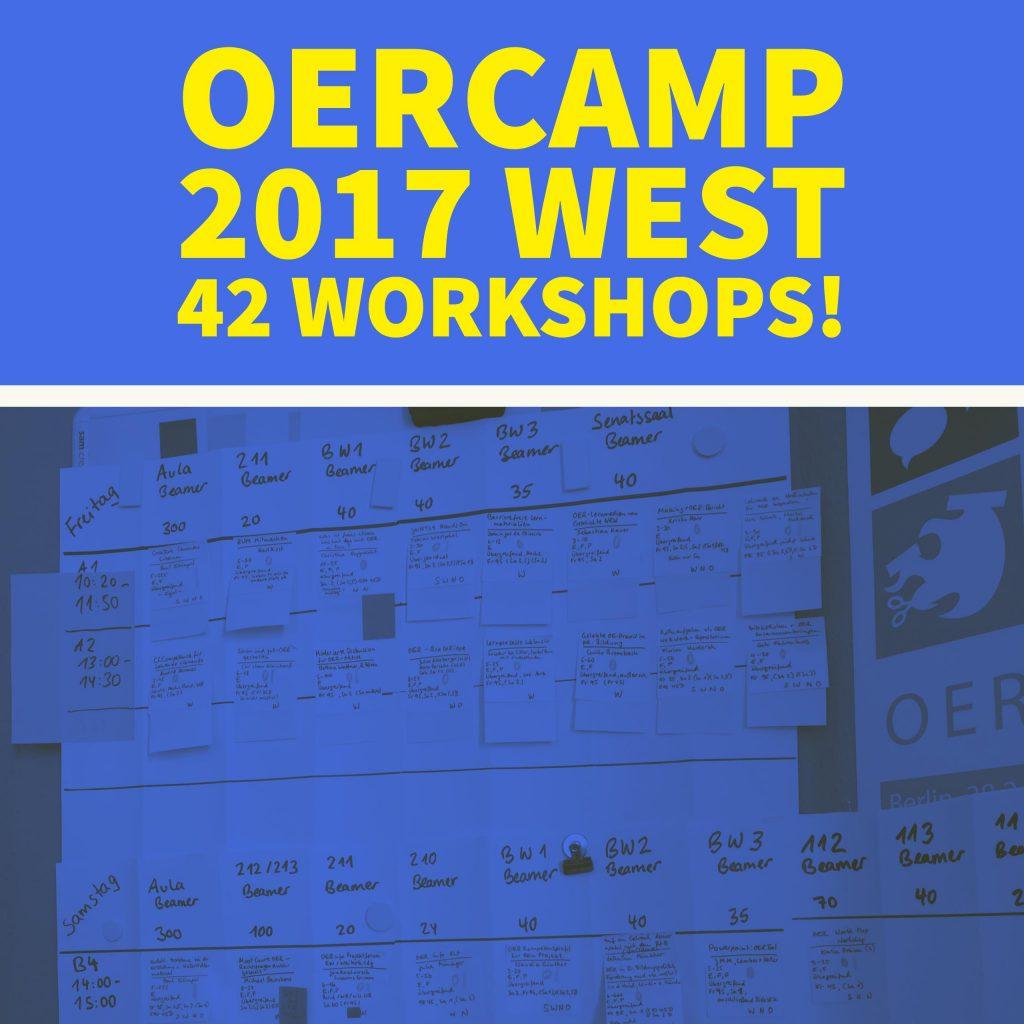 OERcamp 2017 West – 42 Workshops