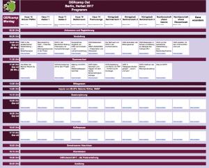 OERcamp 2017: Workshop- und Sessionplan (Klick zum Öffnen in Google Docs)