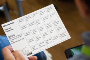 Kennenlern-Bingo-Karte auf dem OERcamp Nord 2018 - Foto von Christopher Dies / OERcamp