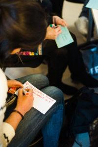 MItarbeit analog in der Session auf dem OERcamp Ost in Berlin - Foto von Tilman Vogler für OERde17
