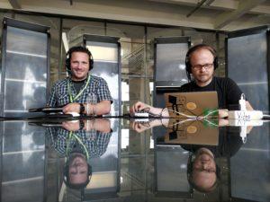 Podcast wird aufgezeichnet auf dem OERcamp Ost 2018 - Foto von Kai Obermüller / OERcamp