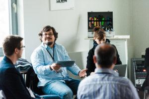 Disskussion in der Session auf dem OERcamp Ost in Berlin - Foto von Tilman Vogler für OERde17