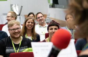 Sessionpräsentation im Plenum auf dem OERcamp West 2018 - Foto von Christopher Dies / OERcamp