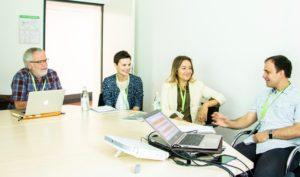 Diskussion in der Session auf dem OERcamp Süd 2018 - Foto von Simon Hrubesch / OERcamp