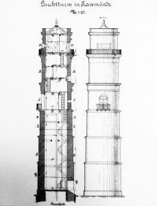 Zeichnung Leuchtturm Travemünde