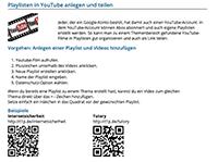 Anleitung zur Erstellung und zum Teilen einer Youtube Playlist